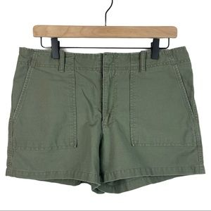 American Eagle Mid Rise Olive Green Cargo Shorts